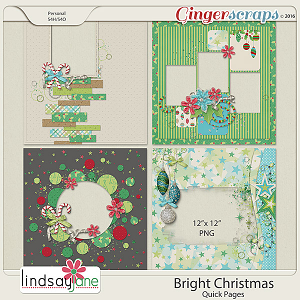 Bright Christmas Quick Pages by Lindsay Jane