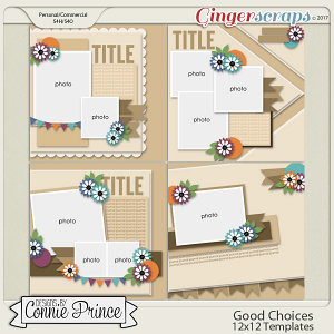 Good Choices - 12x12 Templates (CU Ok)