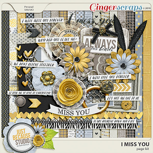 I Miss You Page Kit by JB Studio