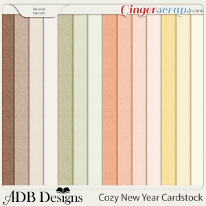 Cozy New Year Cardstock Solids by ADB Designs