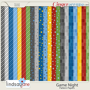 Game Night Pattern Papers by Lindsay Jane