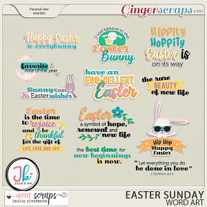 Easter Sunday - Word Art - by Neia Scraps and JB Studio