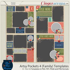 Artsy Pockets 4 (Family) Templates by Miss Fish