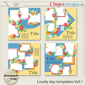 Lovely day Templates Vol.1