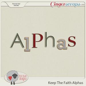 Keep The Faith Alphas by Luv Ewe Designs