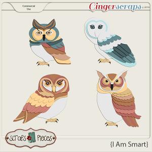 I Am Smart Owls CU Layered Templates - Scraps N Pieces