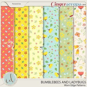 Bumblebees And Ladybugs Won Edge Patterns by Ilonka's Designs