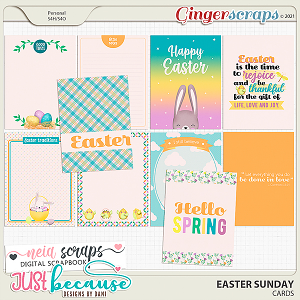 Easter Sunday Cards by JB Studio and Neia Scraps
