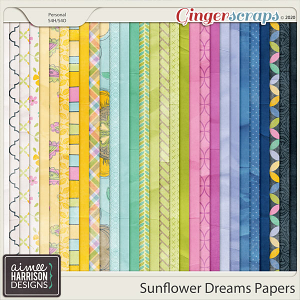 Sunflower Dreams Paper Pack by Aimee Harrison