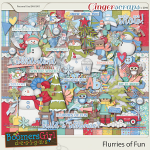 Flurries of Fun by BoomersGirl Designs