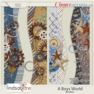 A Boys World Borders by Lindsay Jane