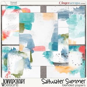 Saltwater Summer {Blended Papers} by Jumpstart Designs