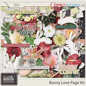 Bunny Love Page Kit by Aimee Harrison