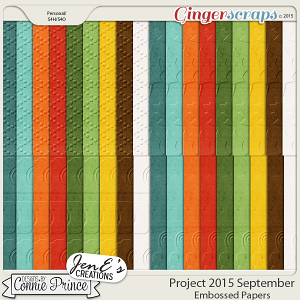 Project 2015 September - Embossed Papers