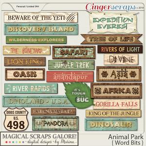 Animal Park (word bits)