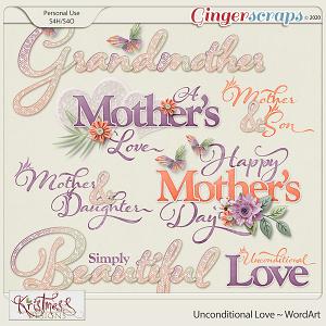 Unconditional Love WordArt