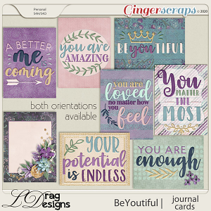 BeYoutiful: Journal Cards by LDragDesigns
