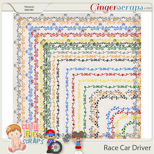 Race Car Driver Page Borders