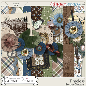 Timeless - Border Clusters by Connie Prince