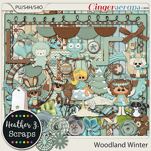 Woodland Winter KIT by Heather Z Scraps