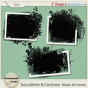 Succulents and Cactuses Masks & Frames