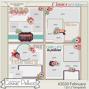 #2020 February - 12x12 Template Pack (CU Ok) by Connie Prince
