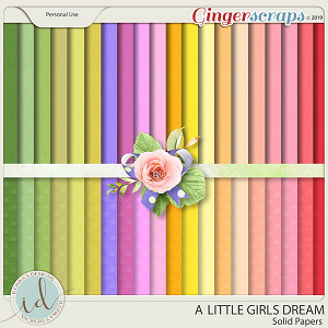 A Little Girls Dream Solid Papers by Ilonka's Designs
