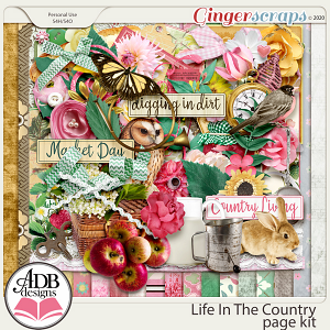 Life In The Country Page Kit by ADB Designs