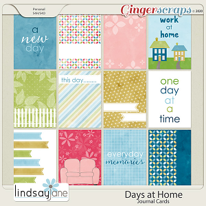 Days at Home Journal Cards by Lindsay Jane