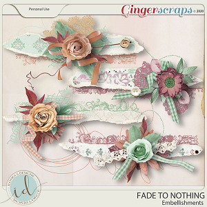 Fade To Nothing Embellishments by Ilonka's Designs