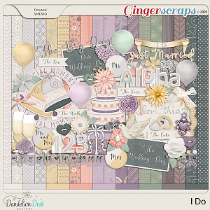 I Do Digital Scrapbook Kit By Dandelion Dust Designs