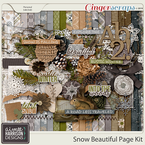Snow Beautiful Page Kit by Aimee Harrison