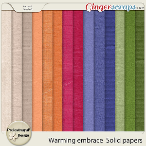 Warming embrace Solid papers