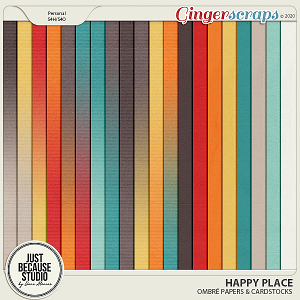Happy Place Ombre Papers & Cardstocks by JB Studio