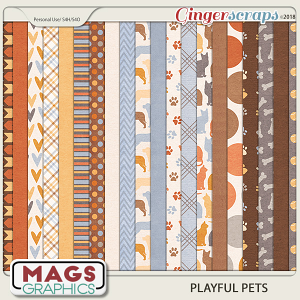 Playful Pets PAPERS by MagsGraphics