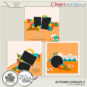 Autumn Cuddles Templates 3 by JB Studio and Neia Scraps