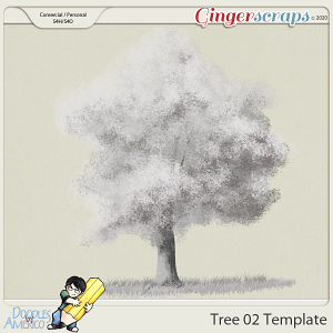 Doodles By Americo: Tree-02 Template
