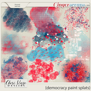 Democracy Paint Splats by Chere Kaye Designs