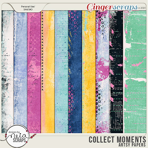 Collect Moments - Artsy Papers - by Neia Scraps