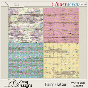 Fairy Flutter: Worn Out Papers by LDragDesigns