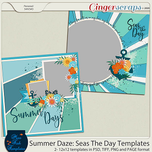 Summer Daze: Seas The Day Templates by Miss Fish