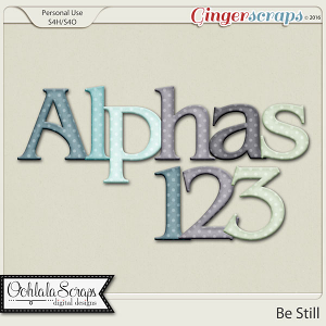 Be Still Alphabets by Ooh La La Scraps
