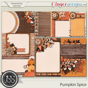 Pumpkin Spice Pocket Scrap Cards