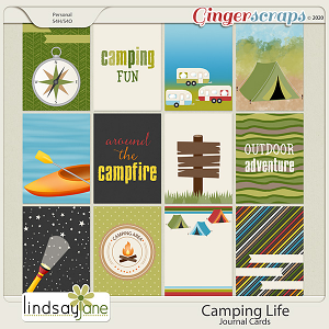 Camping Life Journal Cards by Lindsay Jane
