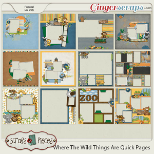Where the Wild Things Are Quick Pages by Scraps N Pieces