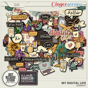 My Digital Life Elements by JB Studio and Aimee Harrison Designs