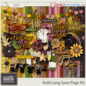 Auld Lang Syne Page Kit by Aimee Harrison
