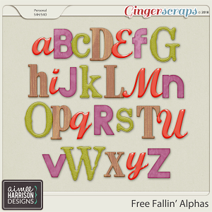 Free Fallin' Alpha Sets by Aimee Harrison
