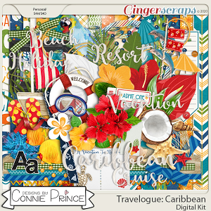 Travelogue Caribbean - Kit by Connie Prince