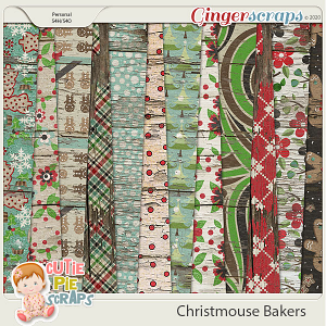 Christmouse Bakers Wood Papers